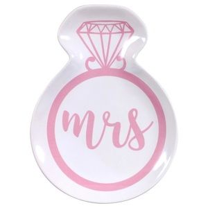 NWT Pink Mrs Ring Shaped Jewelry Trinket Tray